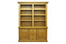 Litchfield Wide Bookcase and Large Cupboard