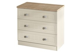 Vienna 3 Drawer Wide Chest