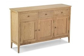 Watford Oak Large 3 Door 3 Drawer Sideboard